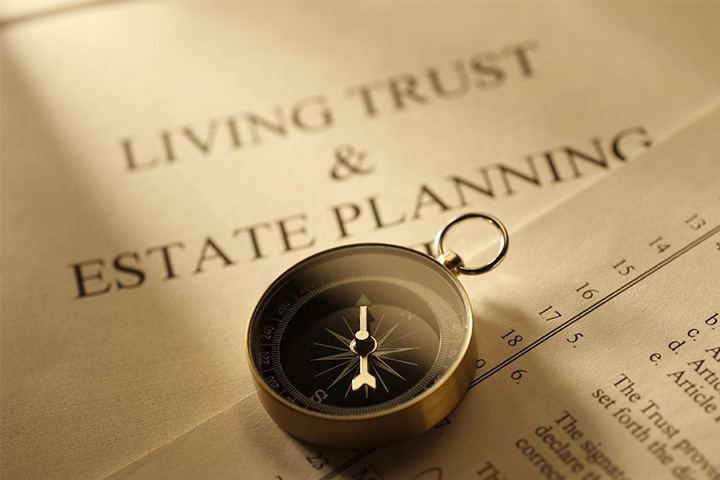 picture of a living trust and estate planning document